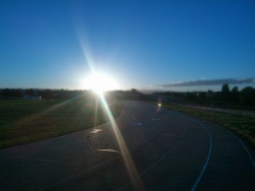 beautiful evening on the track
